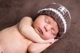 Precious Little Baby Knit Football Hat