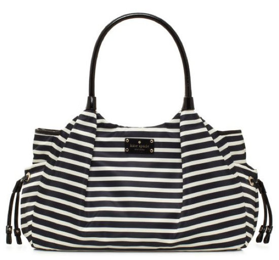 Kate Spade Nylon Stripe Stevie Baby Bag