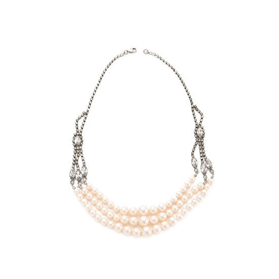 Necklace, approx $671, Tom Binns at Shopbop