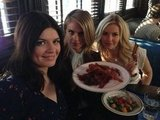 "Guest star Andy Richter had a ""bacon party"" with the ladies of Happy Endings. Source: Twitter user AndyRichter"