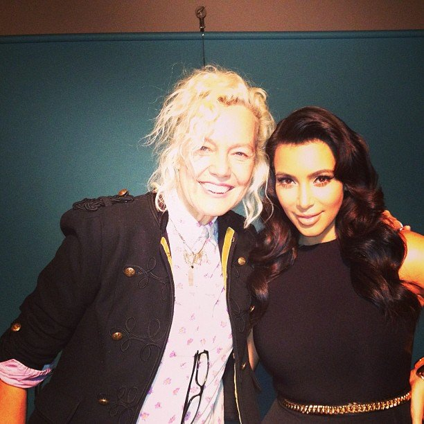 Kim Kardashian was on location for a photo shoot with Ellen von Unwerth. Source: Instagram user kimkardashian