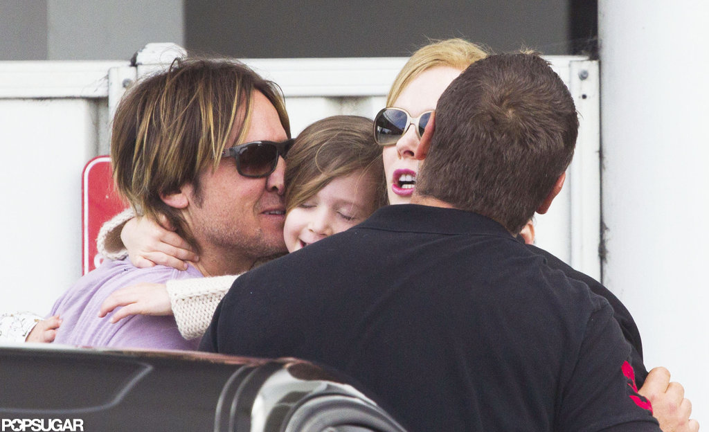 Nicole Kidman and Russell Crowe Land in Sydney With Her Little Ones