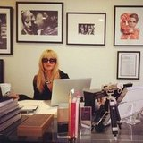 Rachel Zoe decided to wear her sunglasses indoors. Source: Instagram user rachelzoe
