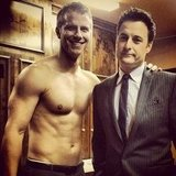 Chris Harrison bravely posed with Bachelor star Sean Lowe. Source: Twitter user chrisbharrison