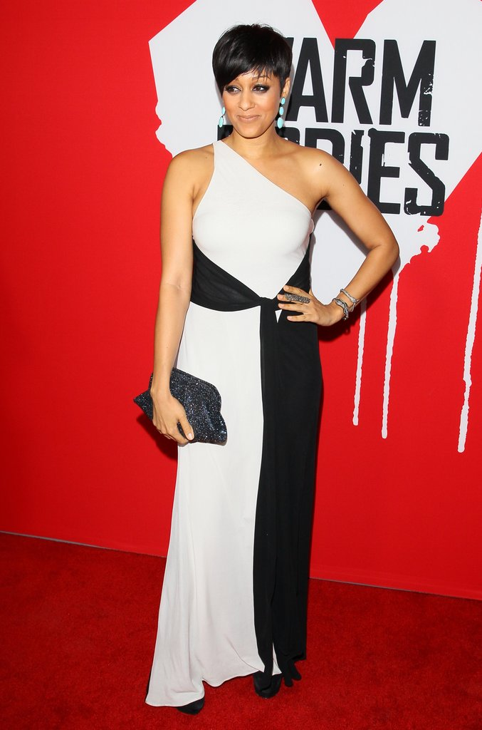 Tia Mowry attended the Warm Bodies premiere.