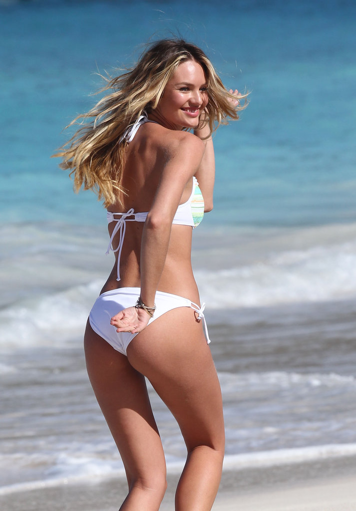 Candice Swanepoel had fun during a Victoria's Secret photo shoot in St. Barts.