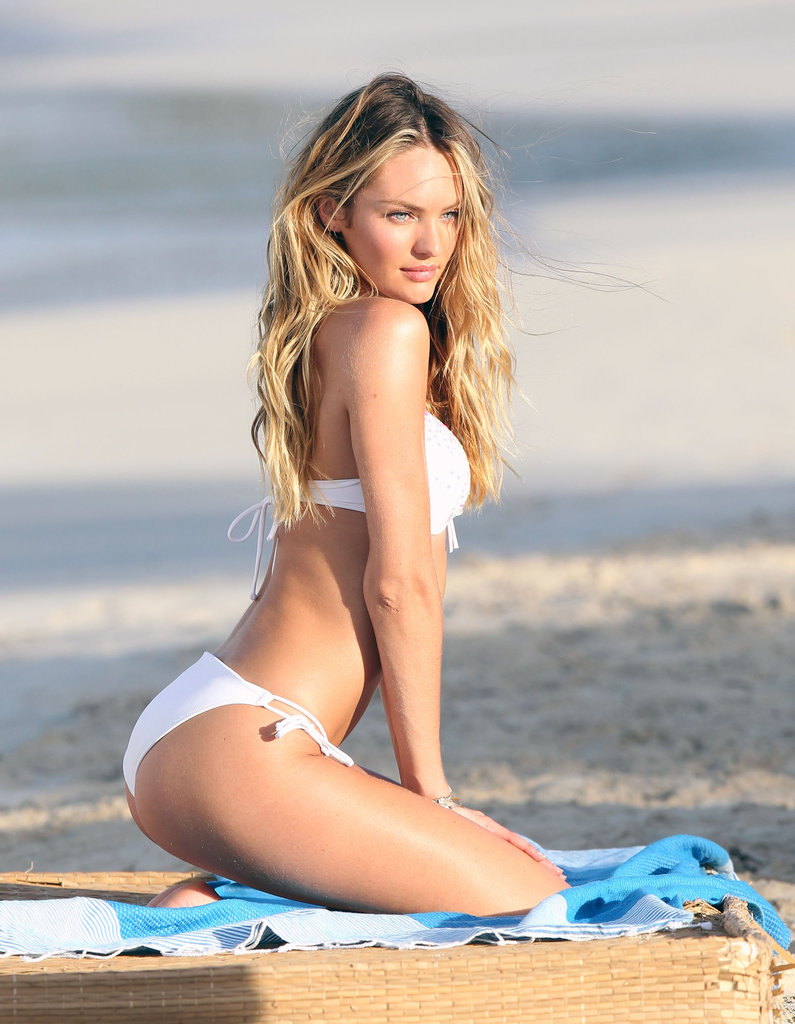 Candice Swanepoel Hops on a Yacht For a Sexy VS Shoot in St. Barts