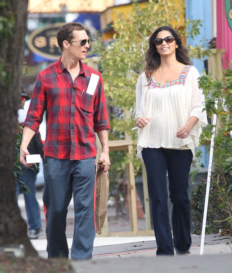 Matthew McConaughey and Camila Alves walked around New Orleans.