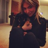 Celebrities Keep Warm With Adorable Furry Friends