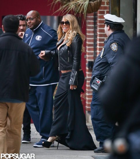 Mariah Carey Bares Her Midriff in Chilly NYC