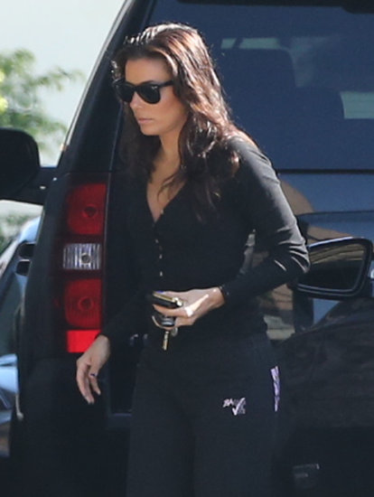 Eva Longoria wore sunglasses in LA.