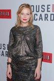 Samantha Mathis wore a metallic dress on the red carpet.
