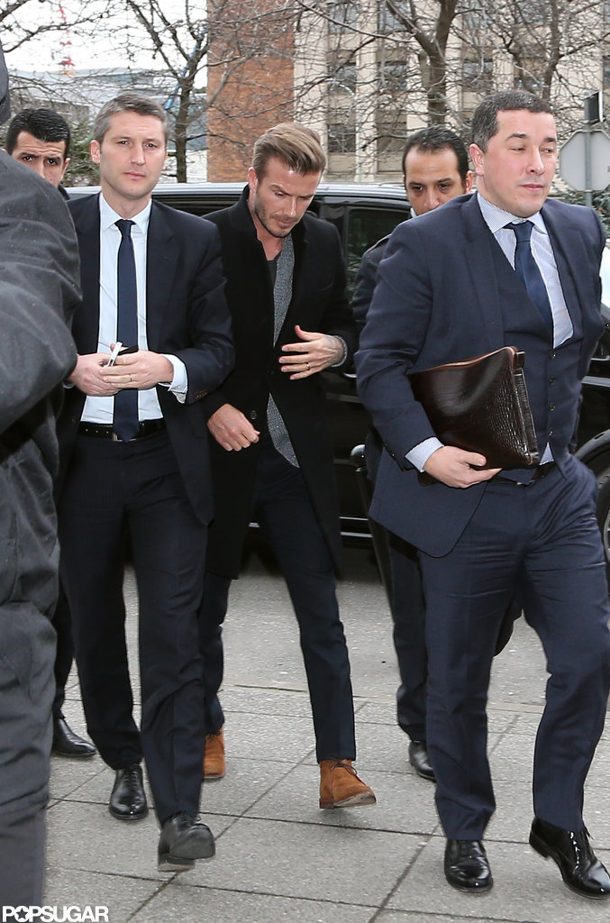 David Beckham arrived at a Paris hospital as news broke that he would be joining the Paris St. Germain soccer team.