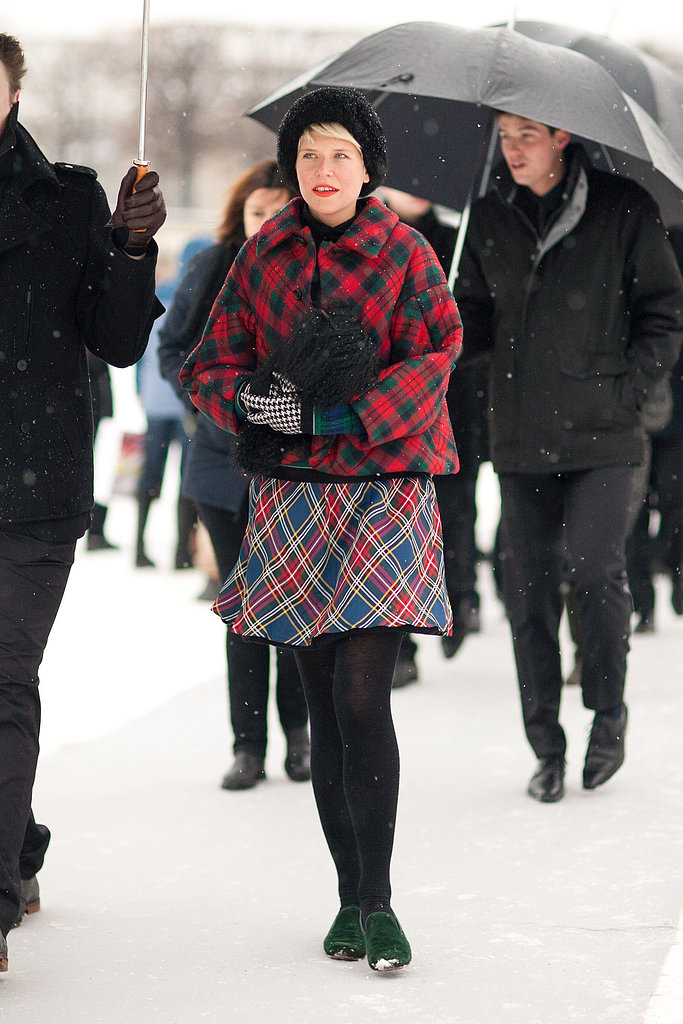 Plaid on plaid is Winter's perfect print on print. Source: Le 21ème | Adam Katz Sinding