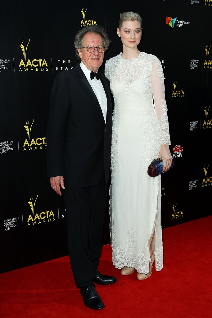 Geoffrey Rush and Elizabeth Debicki