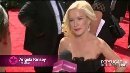Angela Kinsey at the Emmys Revealing She Wants Brad Pitt