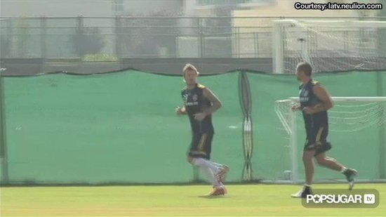 Video: David Beckham's Fine Form Back on the Field