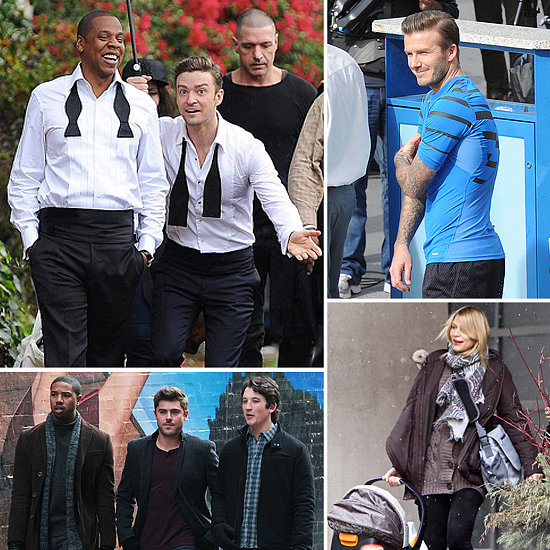 Justin Timberlake, Claire Danes, David Beckham, and More Stars on Set