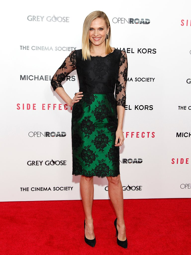 Vinessa Shaw wore a black and green dress.