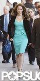 Jennifer Lawrence was also seen wearing a teal dress.
