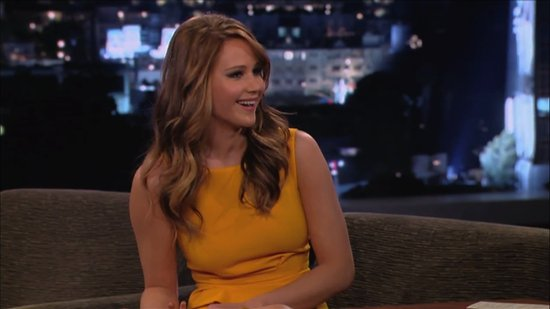 Video: Jennifer Lawrence Tells Kimmel Her Breasts Are Uneven and Rewatches SAG Dress Scare!
