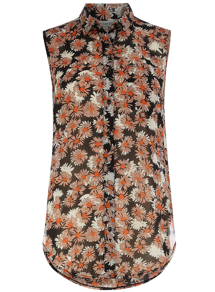 This floral sleeveless top ($44) is on trend, feminine, and sophisticated.