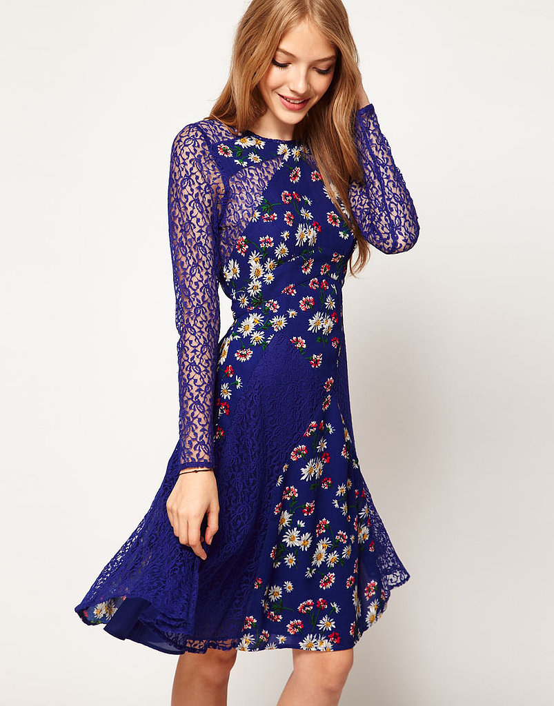 This floral dress ($48, originally $97) looks so much like the Proenza Schouler runway version with its blue hue and sheer detailing.