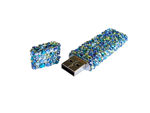 This Crystal Flash Drive ($42) is perfect for the glitzy geek.