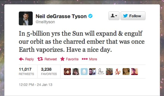 StarTalk Radio host Neil deGrasse Tyson has some reassuring words for the universe.