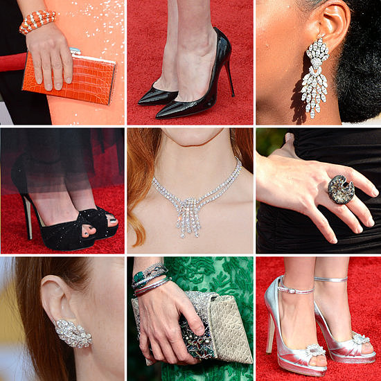 There wasn't a shortage of sumptuous jewelry and luxe clutches at the SAG Awards.