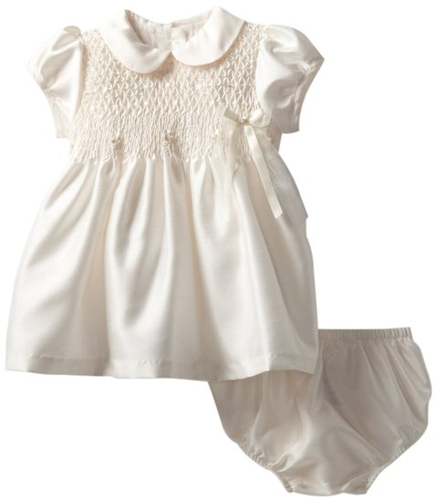 Bonnie Baby Infant Smocked Shantung Dress