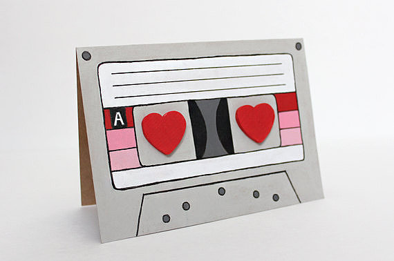 3D Hearts Mix Tape ($6)