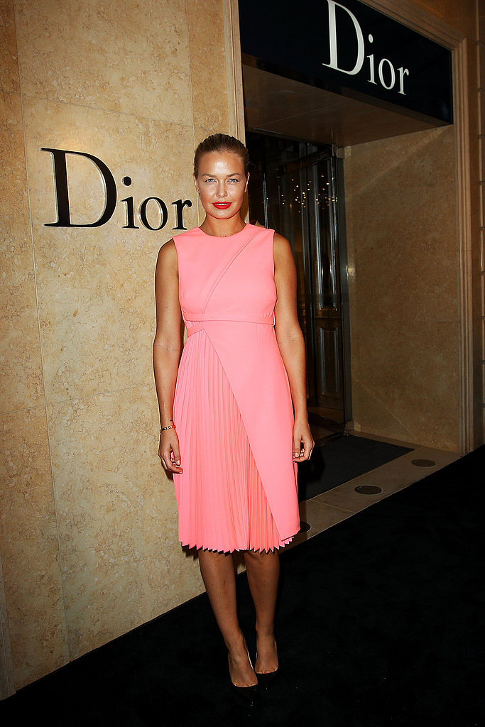 Lara Bingle joined a long list of Aussie style-setters who welcomed Christian Dior's first Aussie flagship store to the city on January 31.
