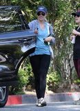 Lauren Conrad wore a baseball hat and sneakers for a hike in LA.