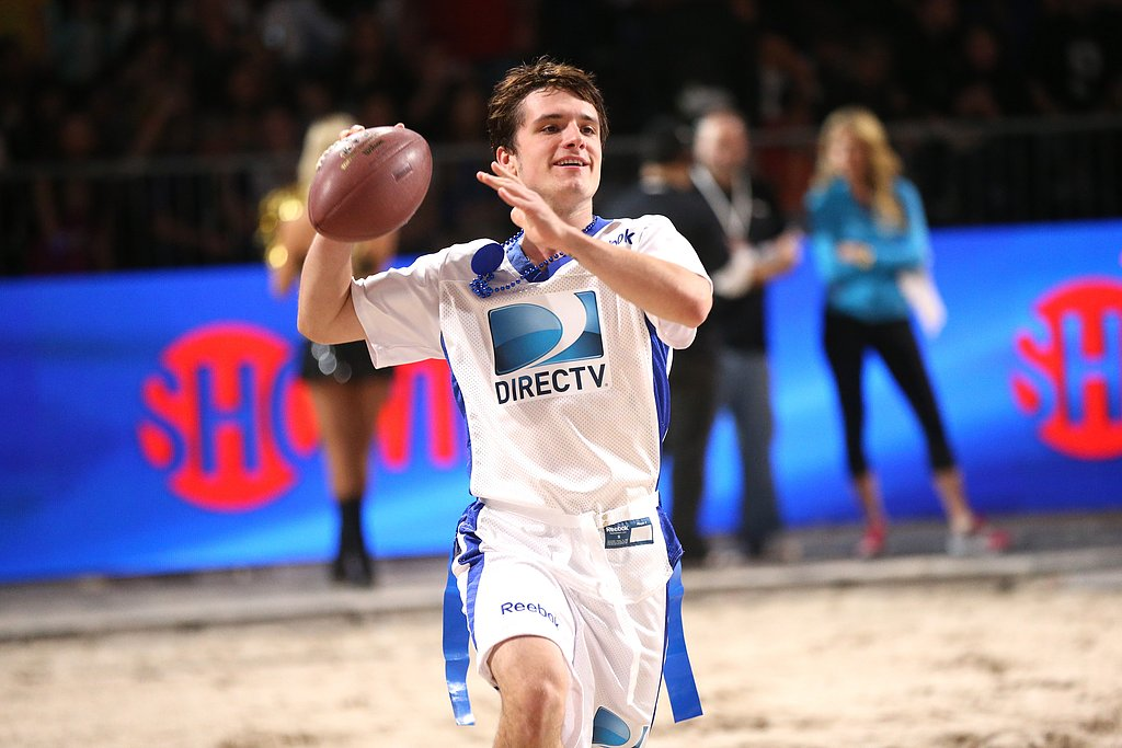 Josh Hutcherson channeled his inner quarterback during the 7th Annual Celebrity Beach Bowl game on Saturday.