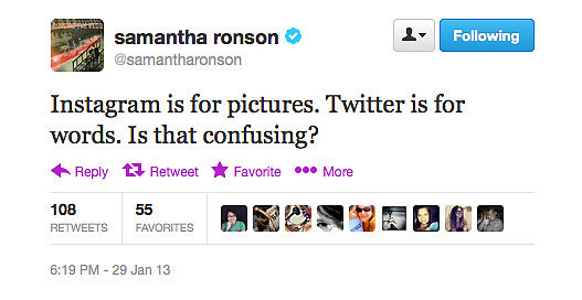Samantha Ronson gives a lesson in social media.