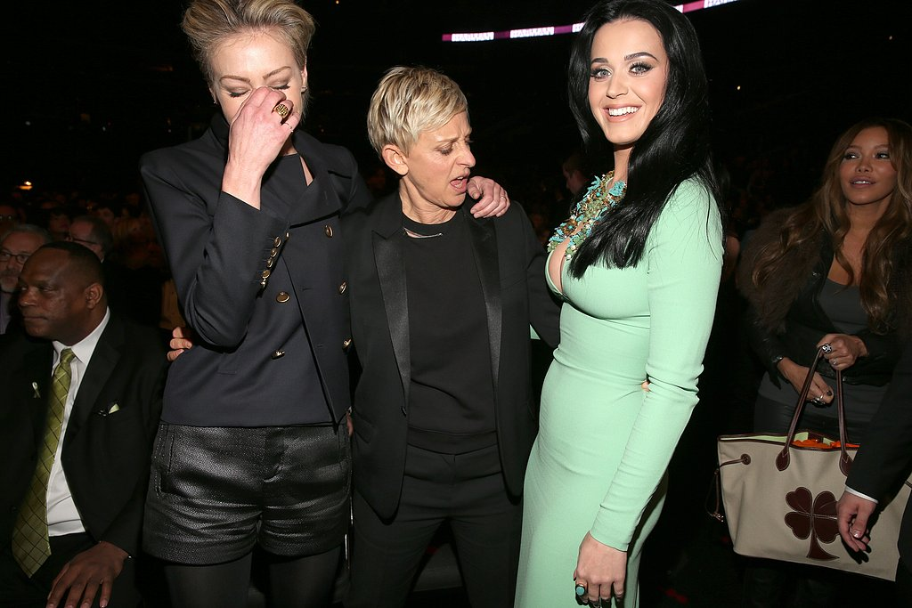 Portia de Rossi, Ellen DeGeneres, and Katy Perry