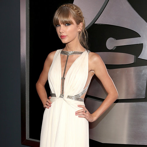 Taylor Swift Pictures in J. Mendel at 2013 Grammy Awards