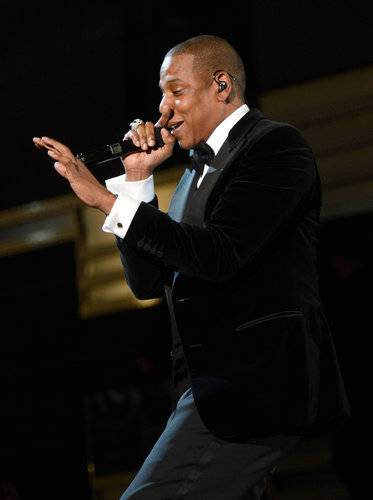 Jay-Z performed at the Grammys.