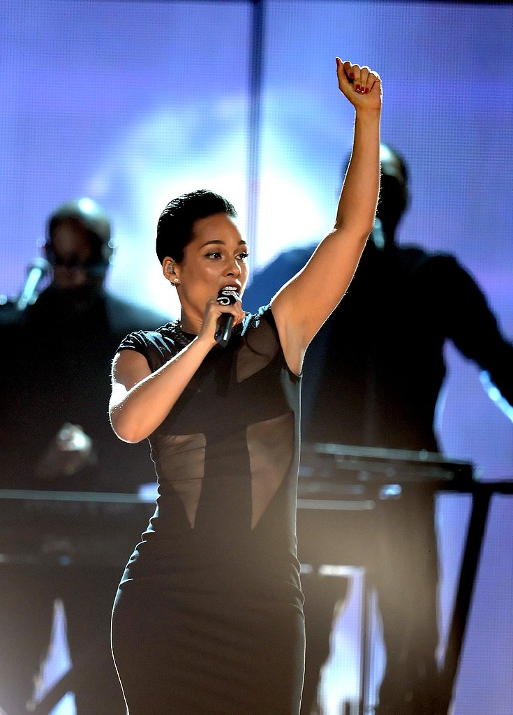 Alicia Keys belted it out during her performance.
