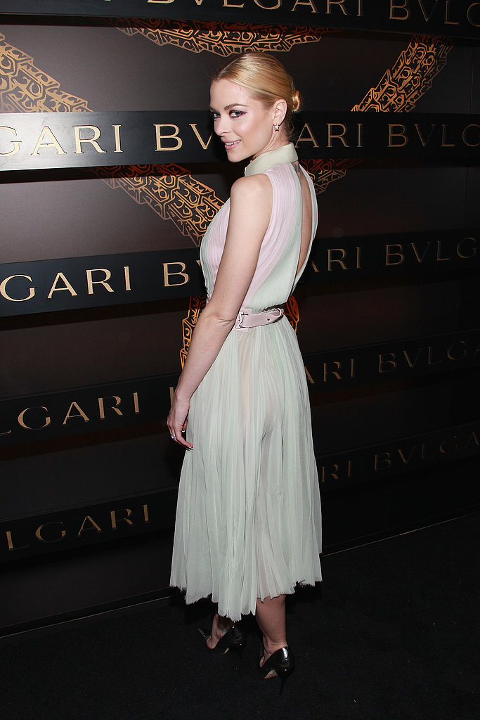 Jaime King posed pretty at Bulgari's Saturday night bash.