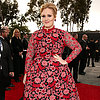 Pictures of Adele in Pink Valentino Dress at 2013 Grammys