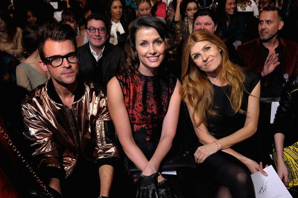 Brad Goreski, Bridget Moynahan, and Connie Britton had prime seats for Monique Lhuillier's presentation at New York Fashion Week in February.