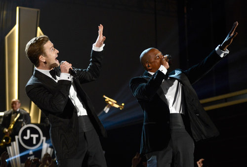 Justin Timberlake and Jay-Z performed together.