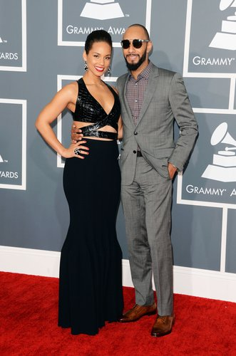 Alicia Keys hit the red carpet with husband Swizz Beatz for the Grammys.
