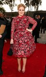 Adele arrived at the 55th Grammy Awards in LA Sunday night.
