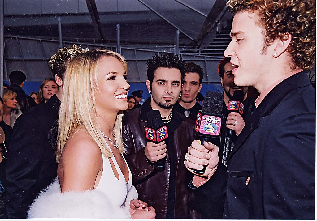 Justin interviewed Britney Spears at the 2000 Grammys.