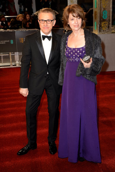 Christolph Waltz and his wife, Judith Holste, attended the BAFTAs together.