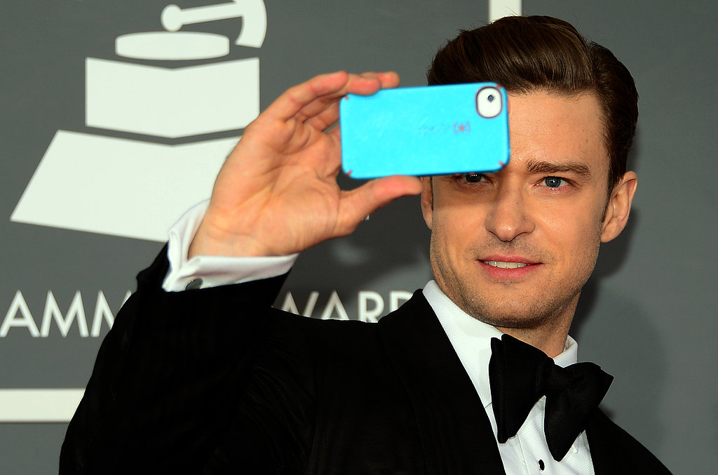 Justin snapped a pic with his iPhone at the 2013 Grammy Awards.
