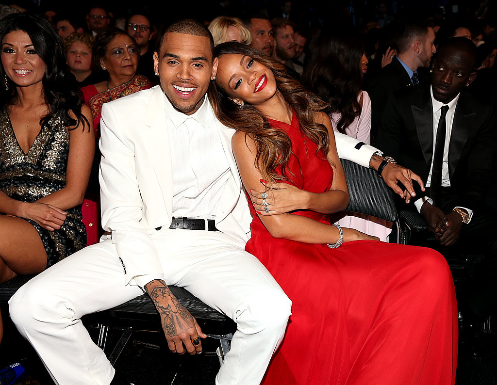 Chris Brown and Rihanna cuddled in the audience.
